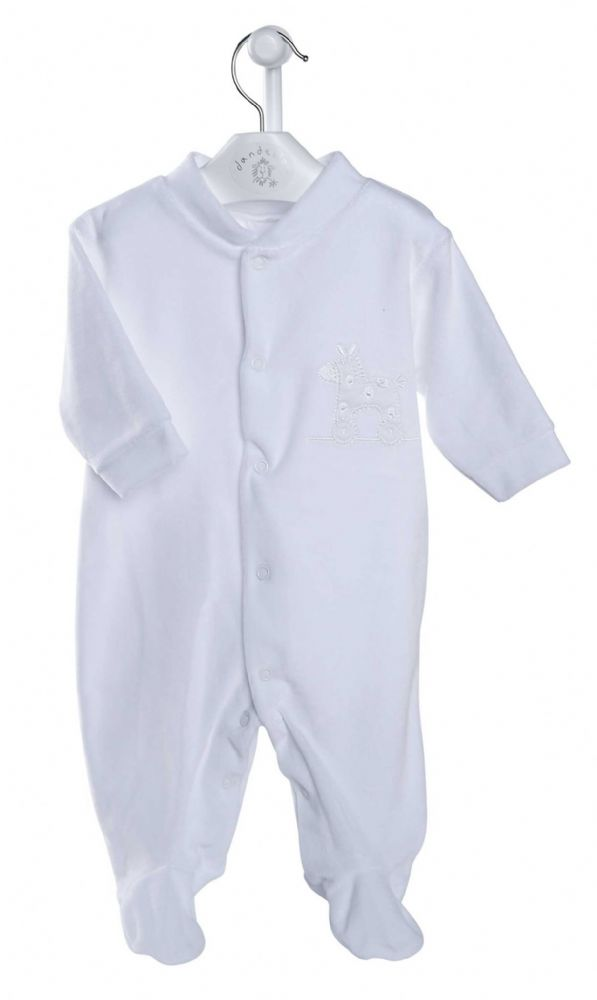 AV1210 Rocking Horse Velour Sleepsuit (W)